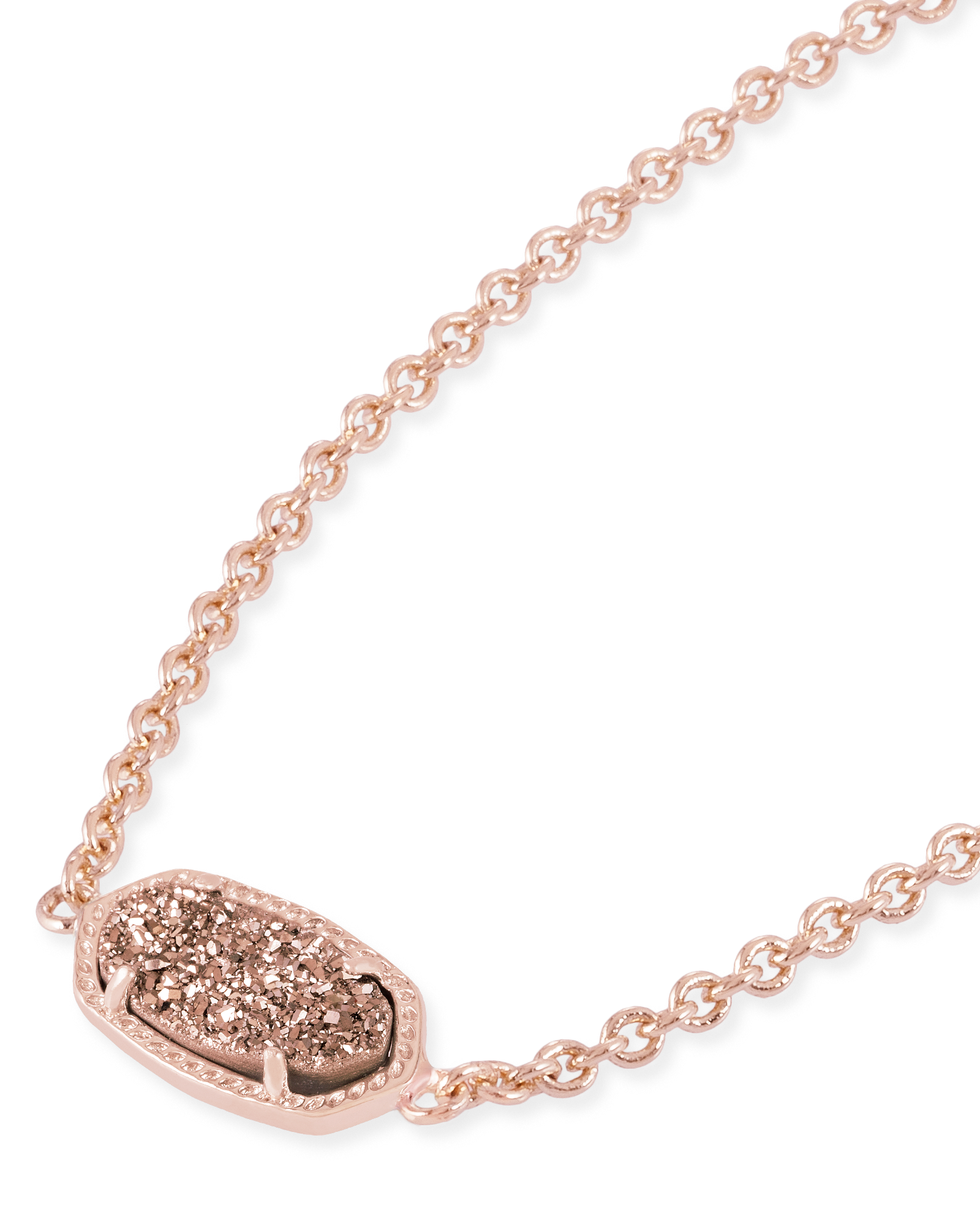 Elaina Adjustable Chain Bracelet in Rose Gold Drusy