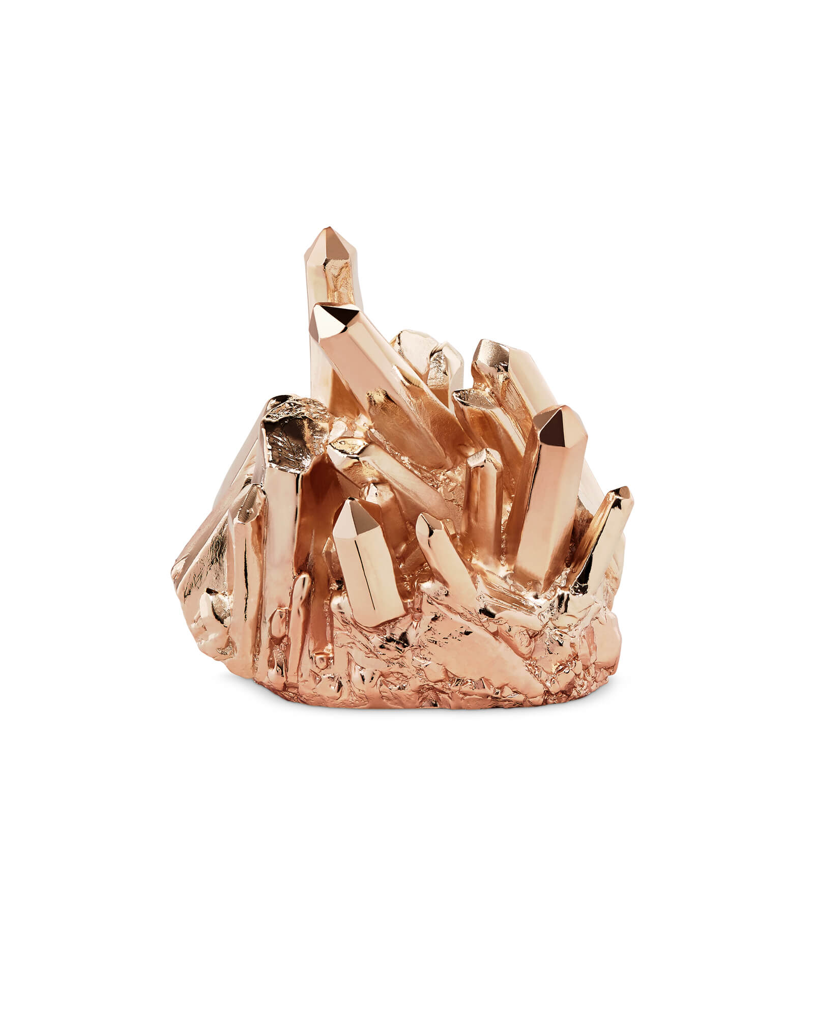 Metal Crystal Ring Holder in Rose Gold