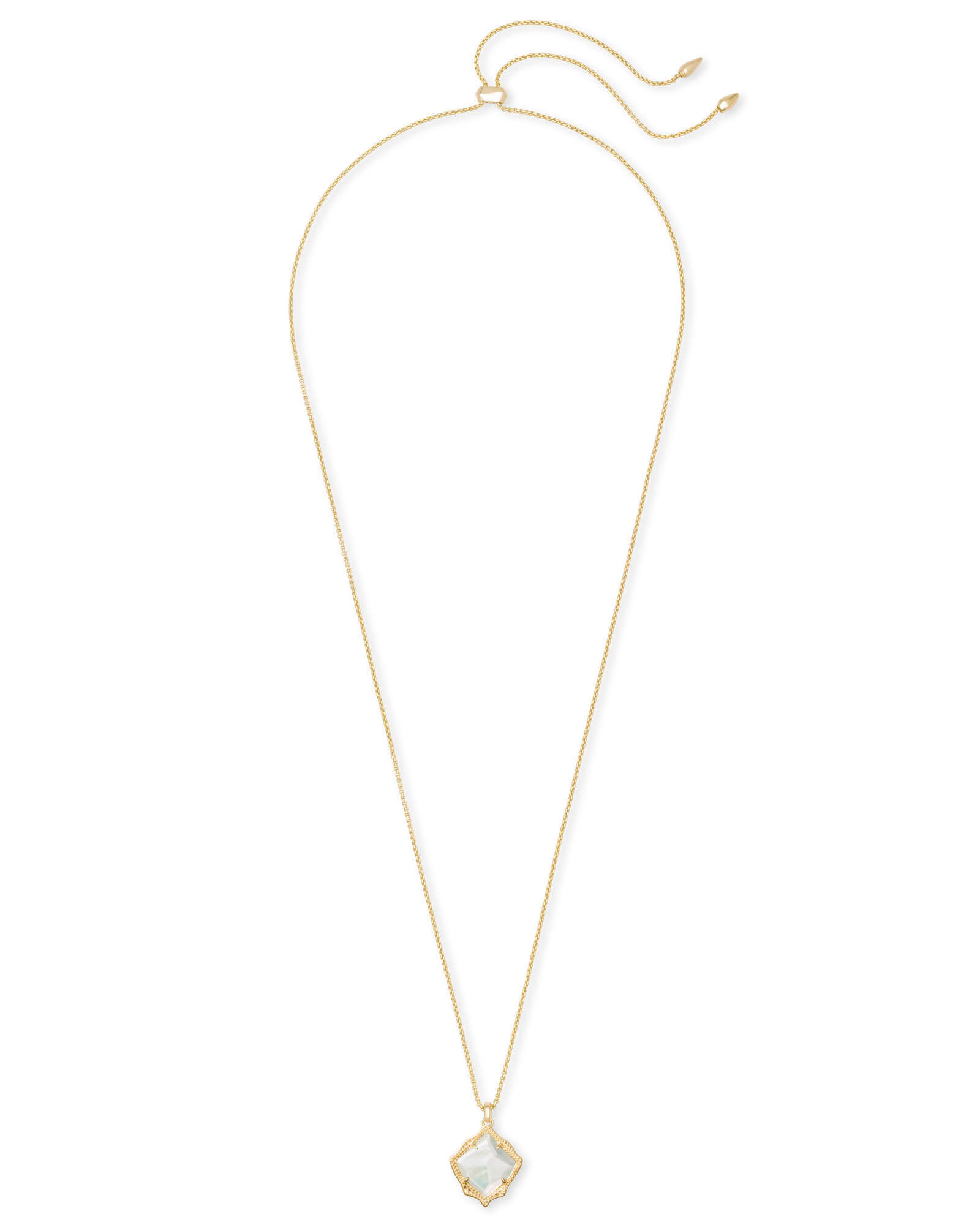 Kacey Long Pendant Necklace in Gold