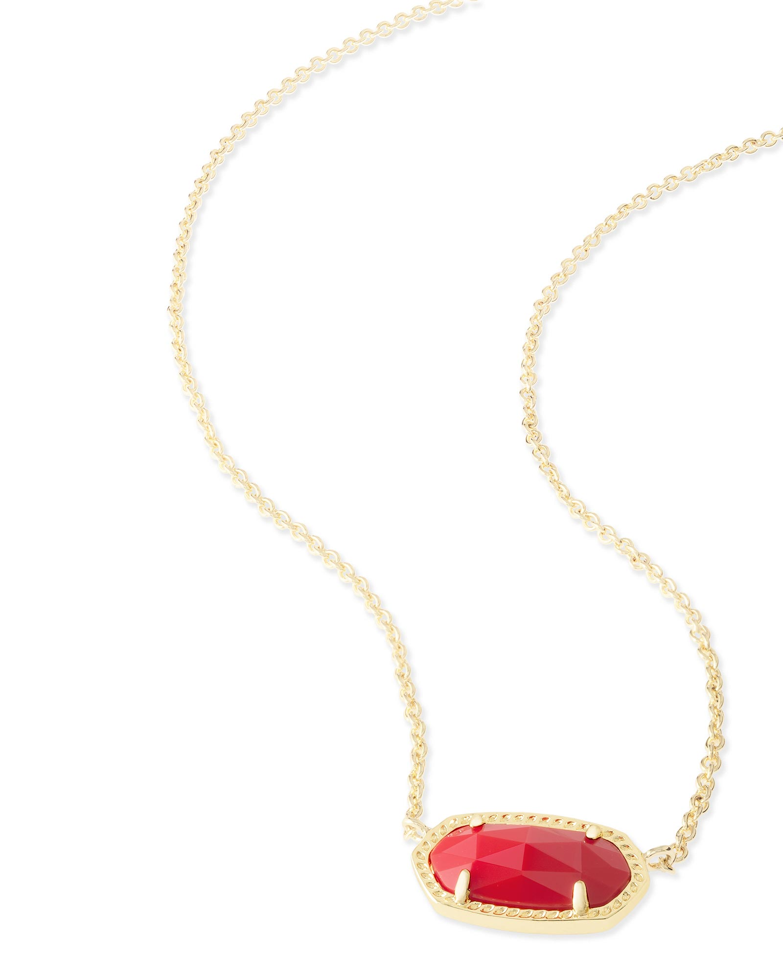 Elisa Pendant Necklace in Bright Red