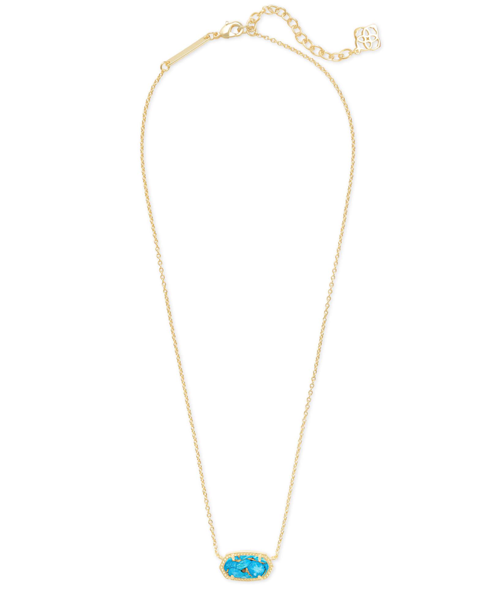 419e3af74f7 ... Elisa Gold Pendant Necklace in Bronze Veined Turquoise Magnesite ...