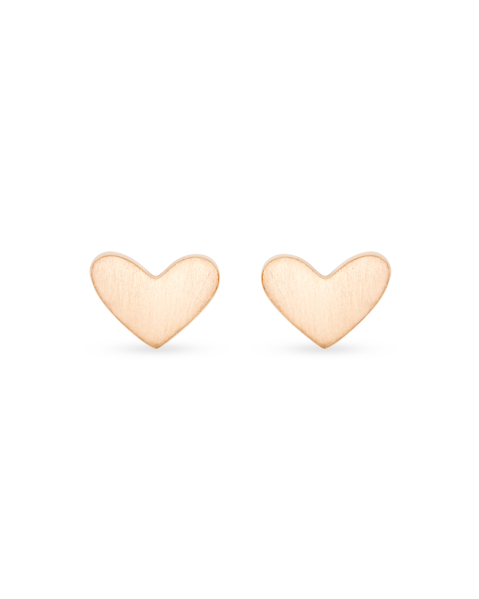 Ari Heart Stud Earrings In 18k Rose Gold Vermeil