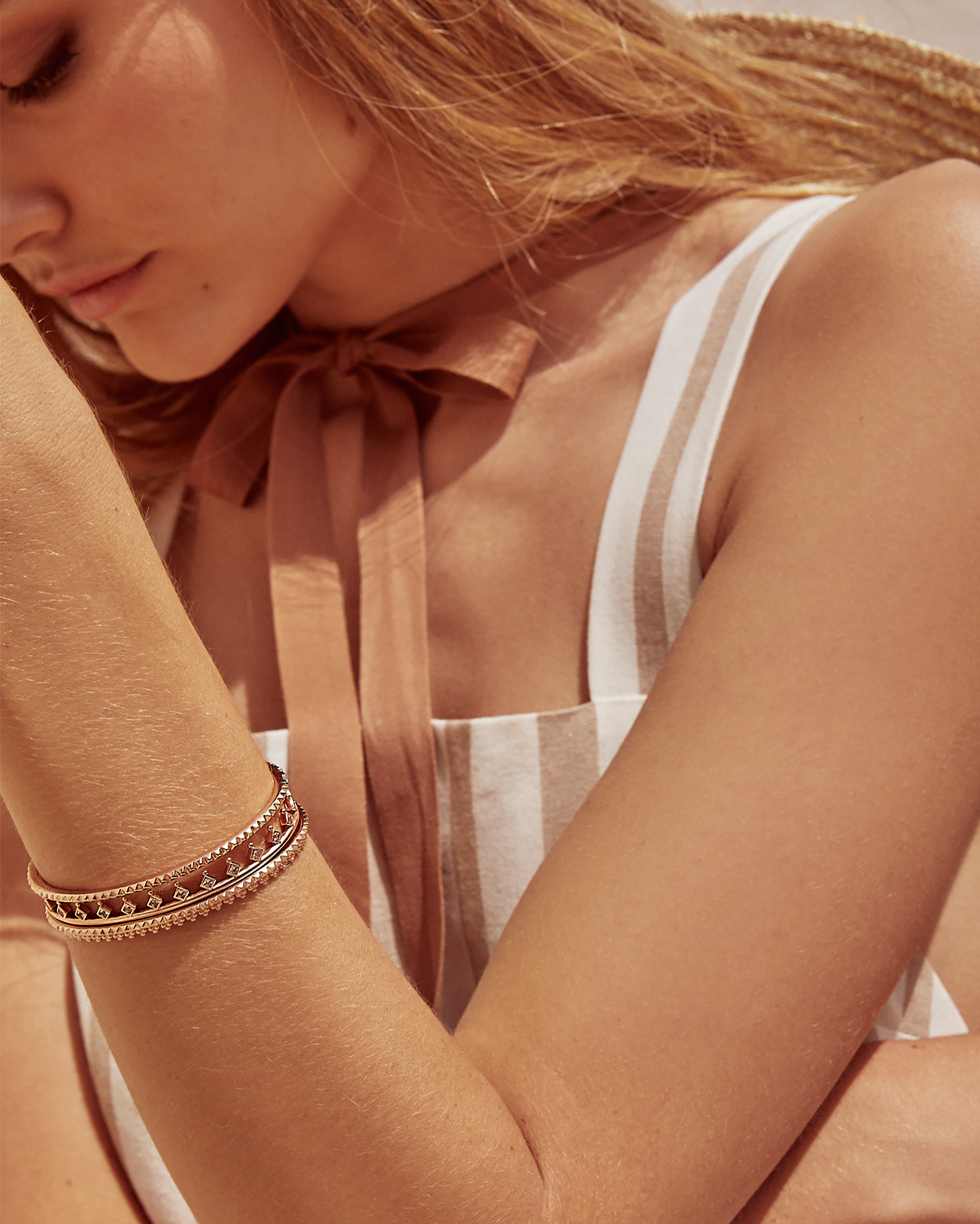 Codi Pinch Bracelet in Rose Gold