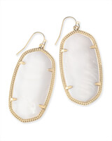 Danielle Gold Earrings in White Pearl