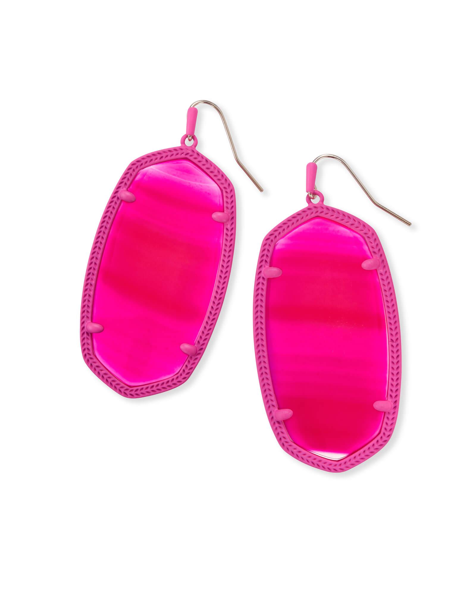 Danielle Matte Statement Earrings Pink Agate | Kendra Scott