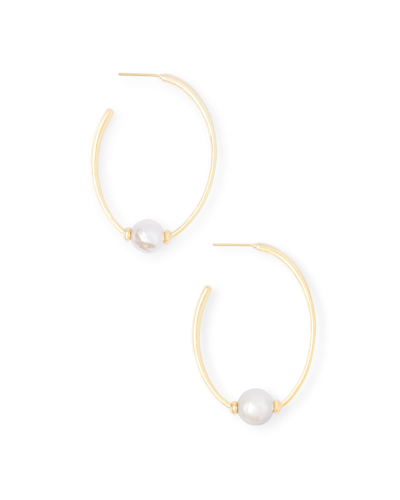 Regina Hoop Earrings in Pearl