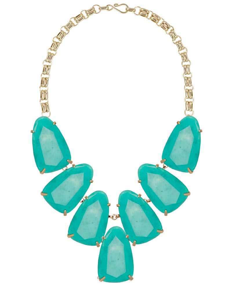 Harlow Statement Necklace in Teal