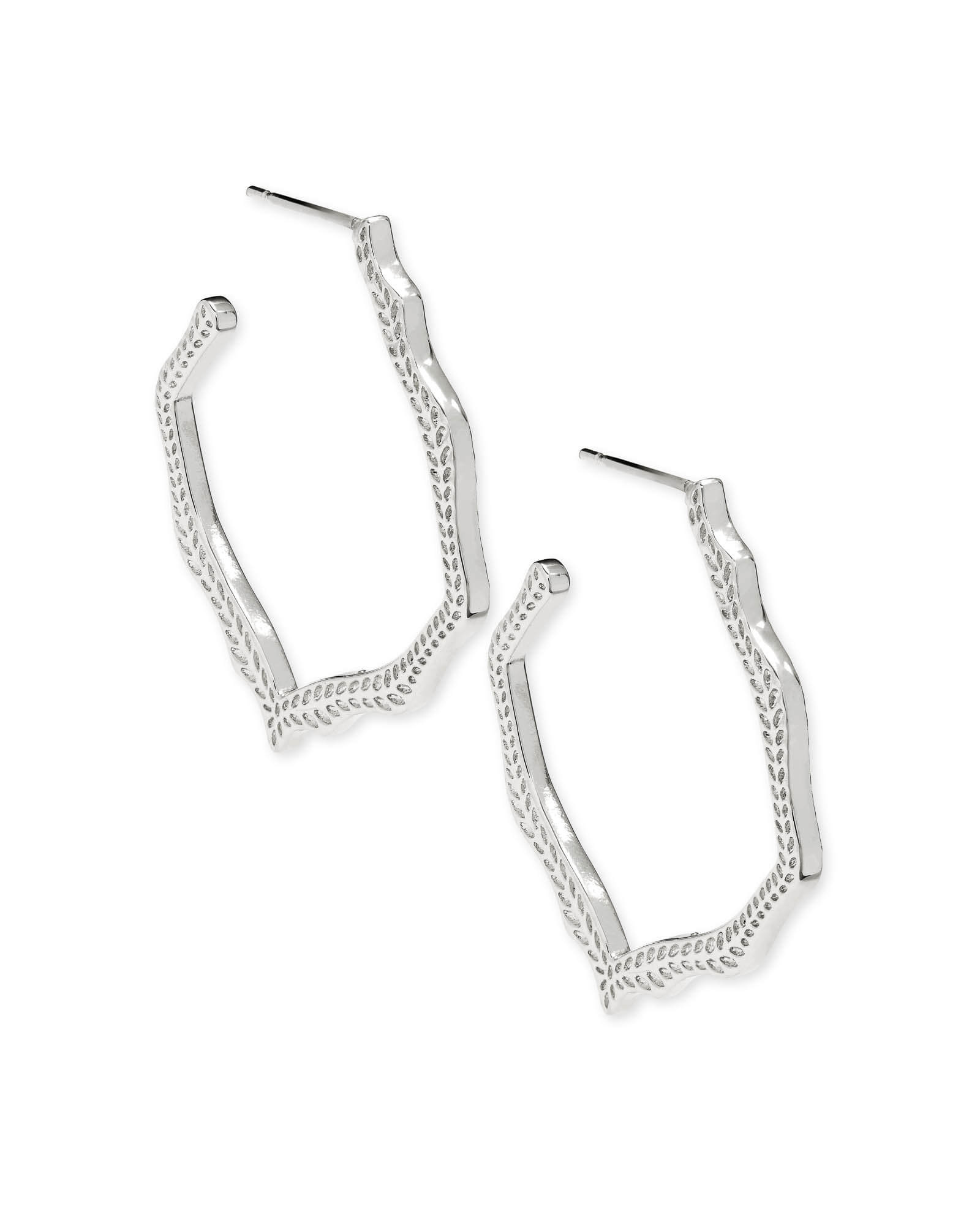 Miku Hoop Earrings in Silver