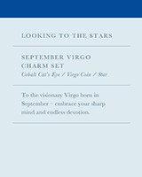 September Virgo Charm Necklace Set