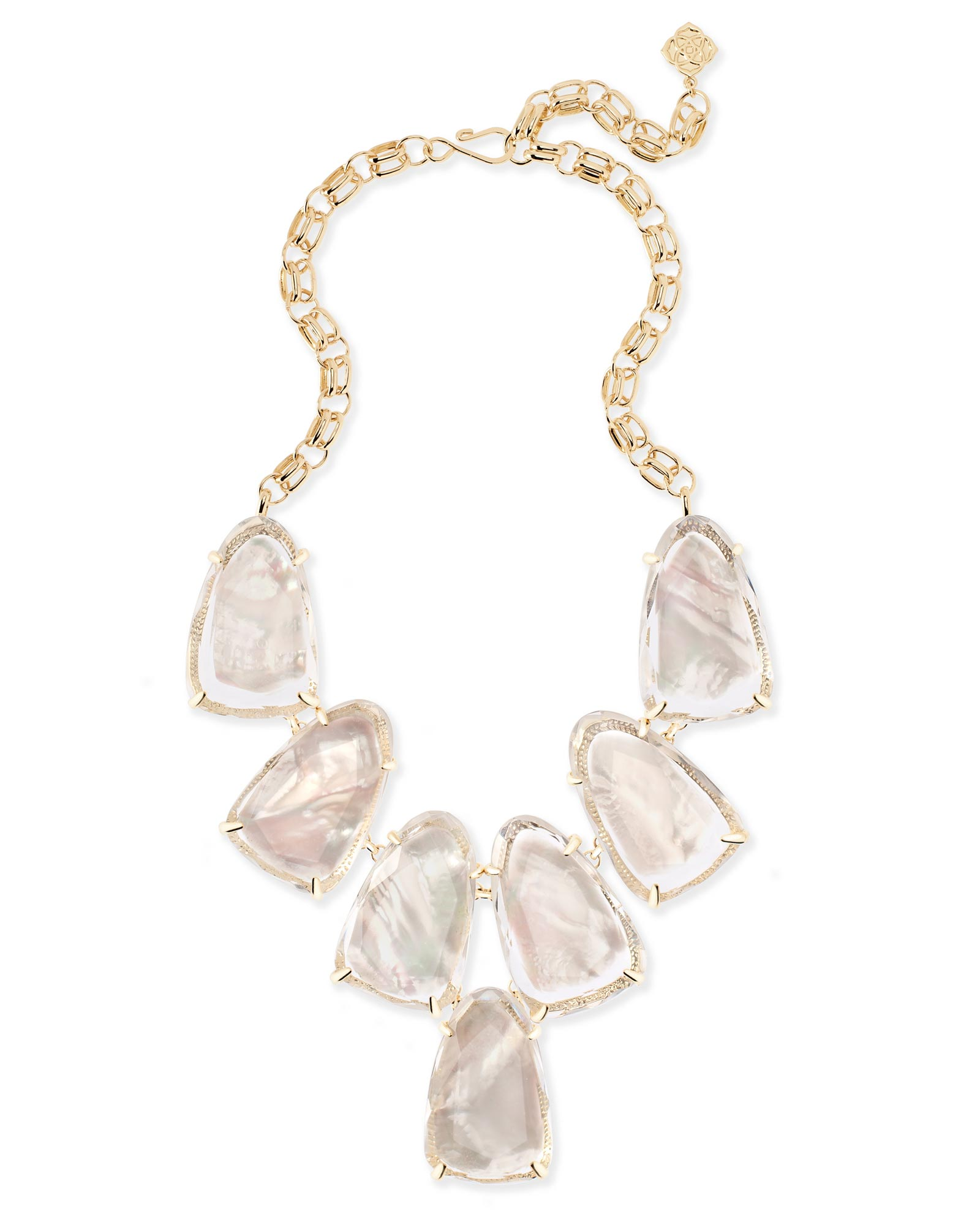 Harlow Statement Necklace in Suspended Ivory Pearl