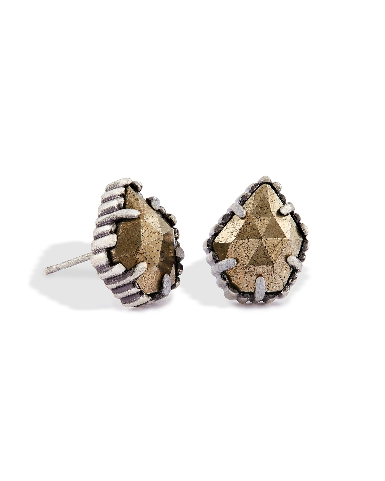 Tessa Stud Earrings in Pyrite