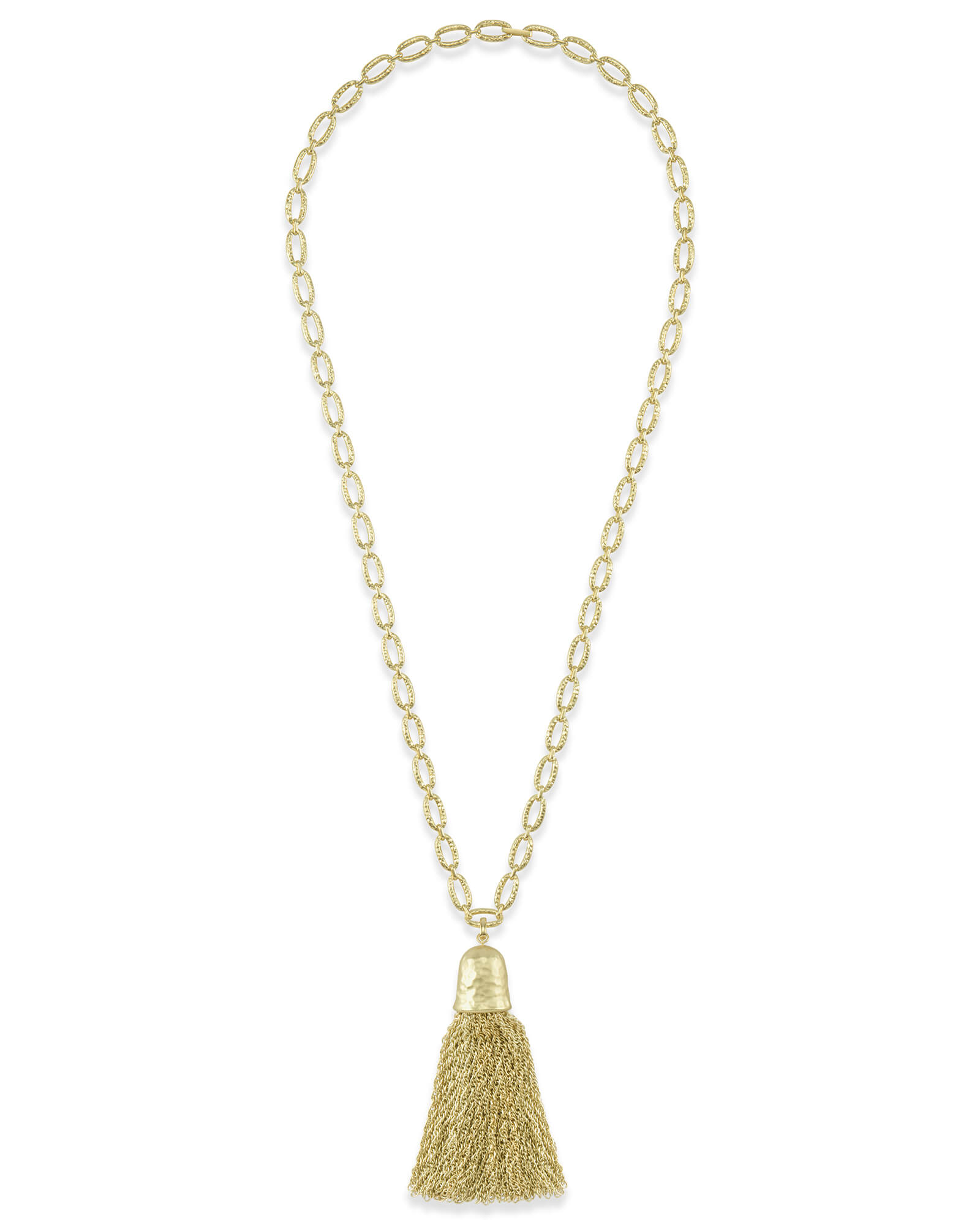 Tassel Charm Necklace Set