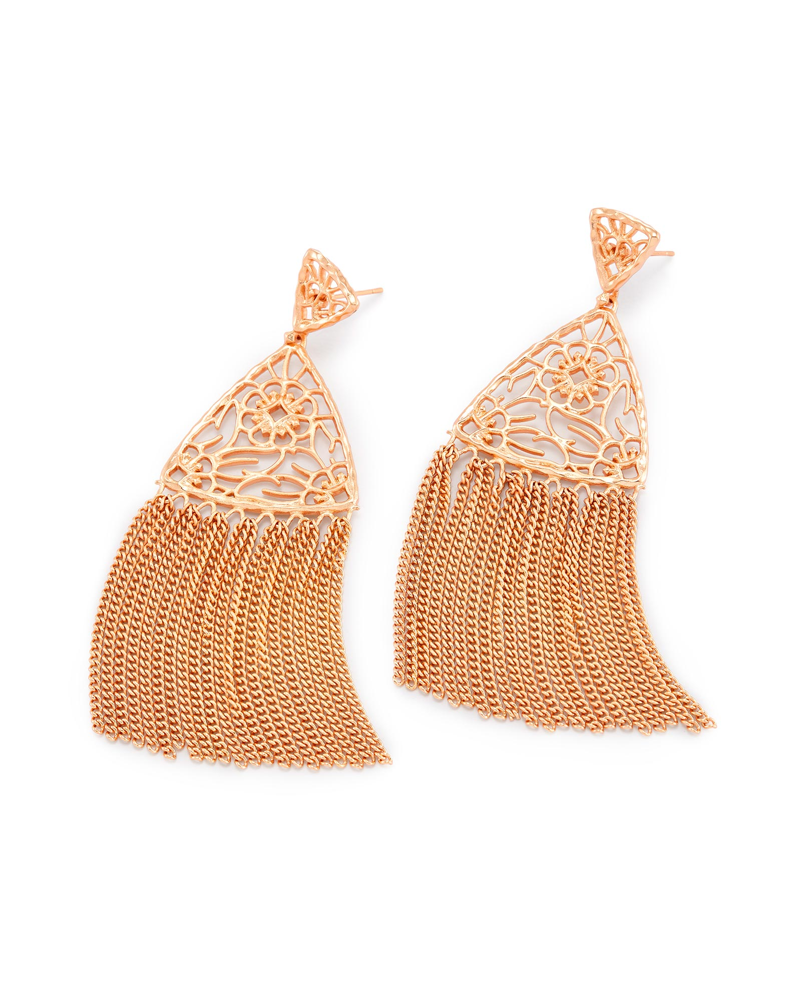 Ana Statement Earrings in Rose Gold