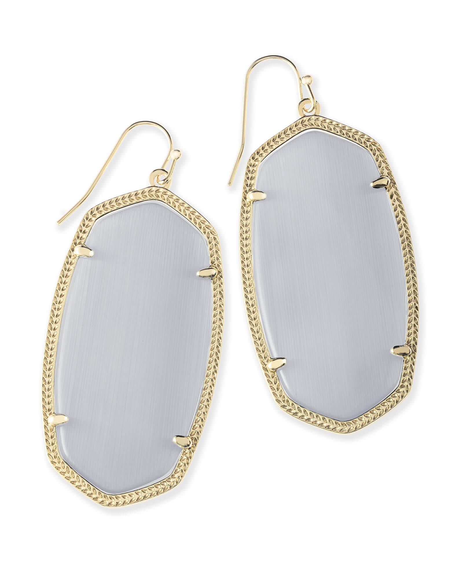 c120f8ac0f70b Danielle Gold Earrings in Slate