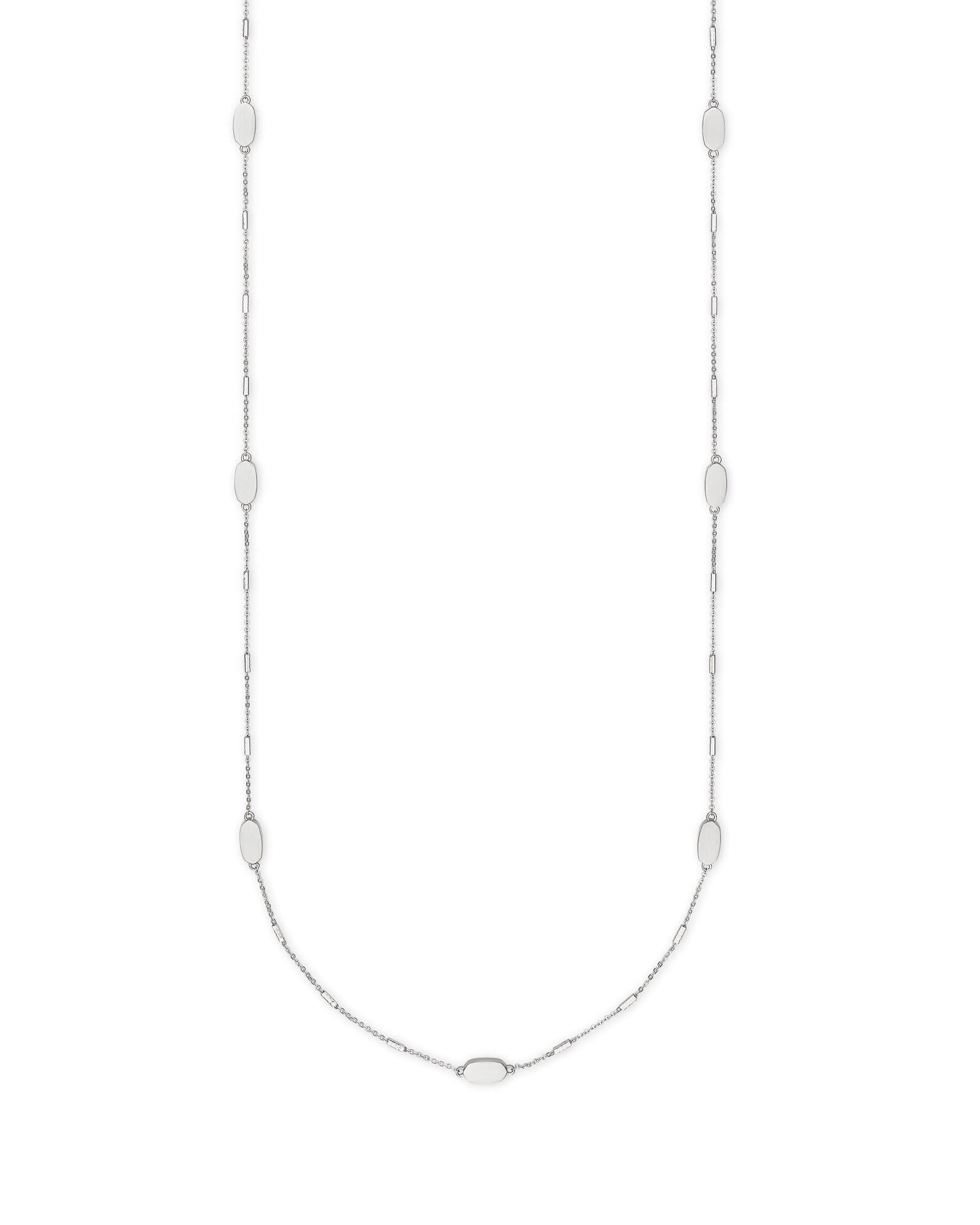 Franklin Long Necklace in Bright Silver