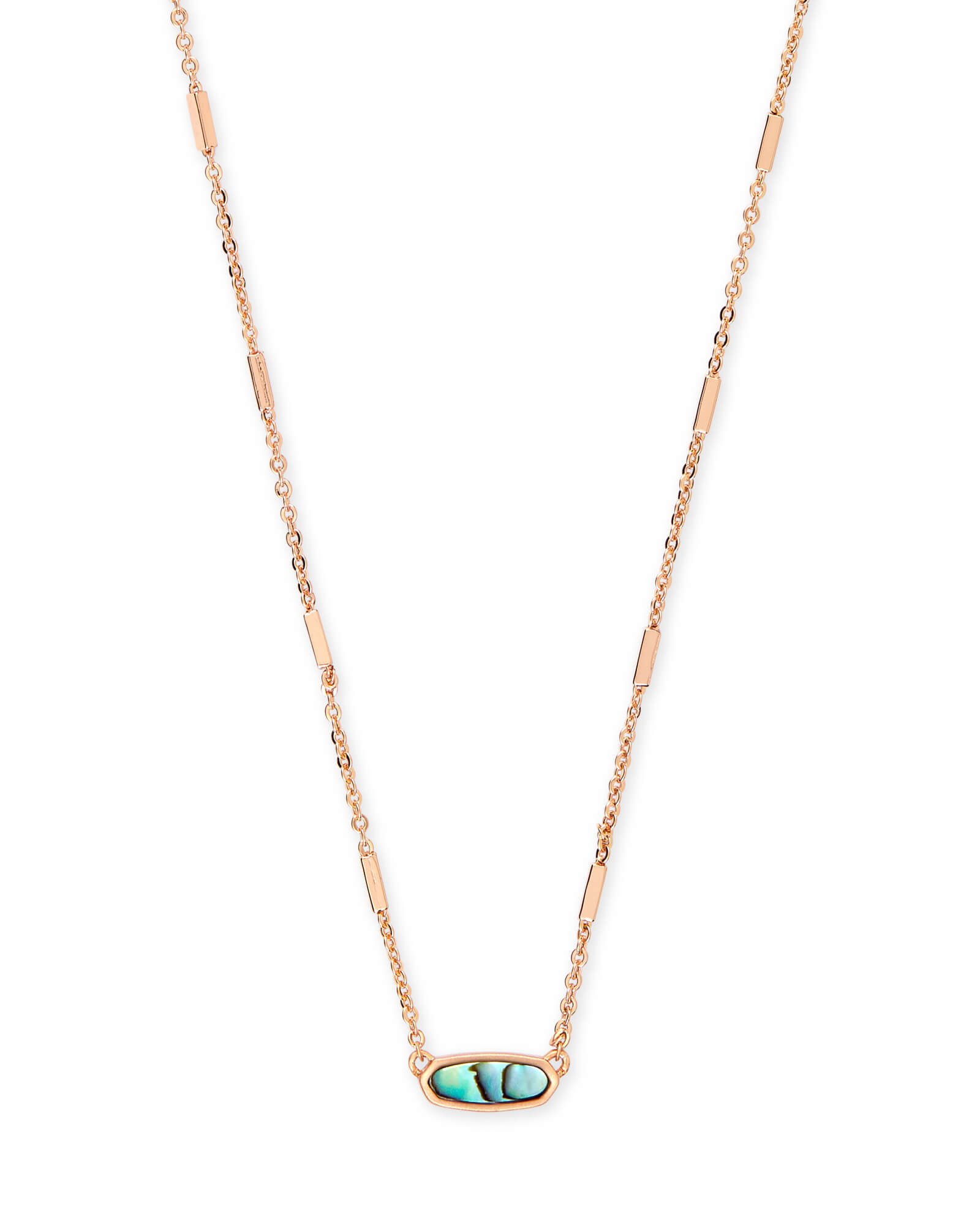 Miya Rose Gold Pendant Necklace in Abalone Shell