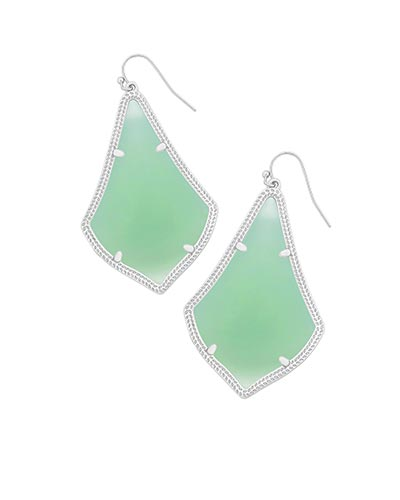 Alexandra Silver Earrings in Chalcedony