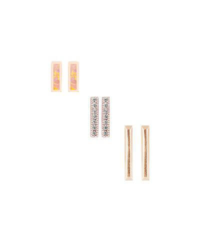 Tanner Stud Earring Set in Coral Kyocera Opal from Kendra Scott Product Image