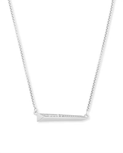 Elliot Pendant Necklace in Silver