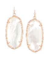 Elle Rose Gold Drop Earrings in Ivory Pearl