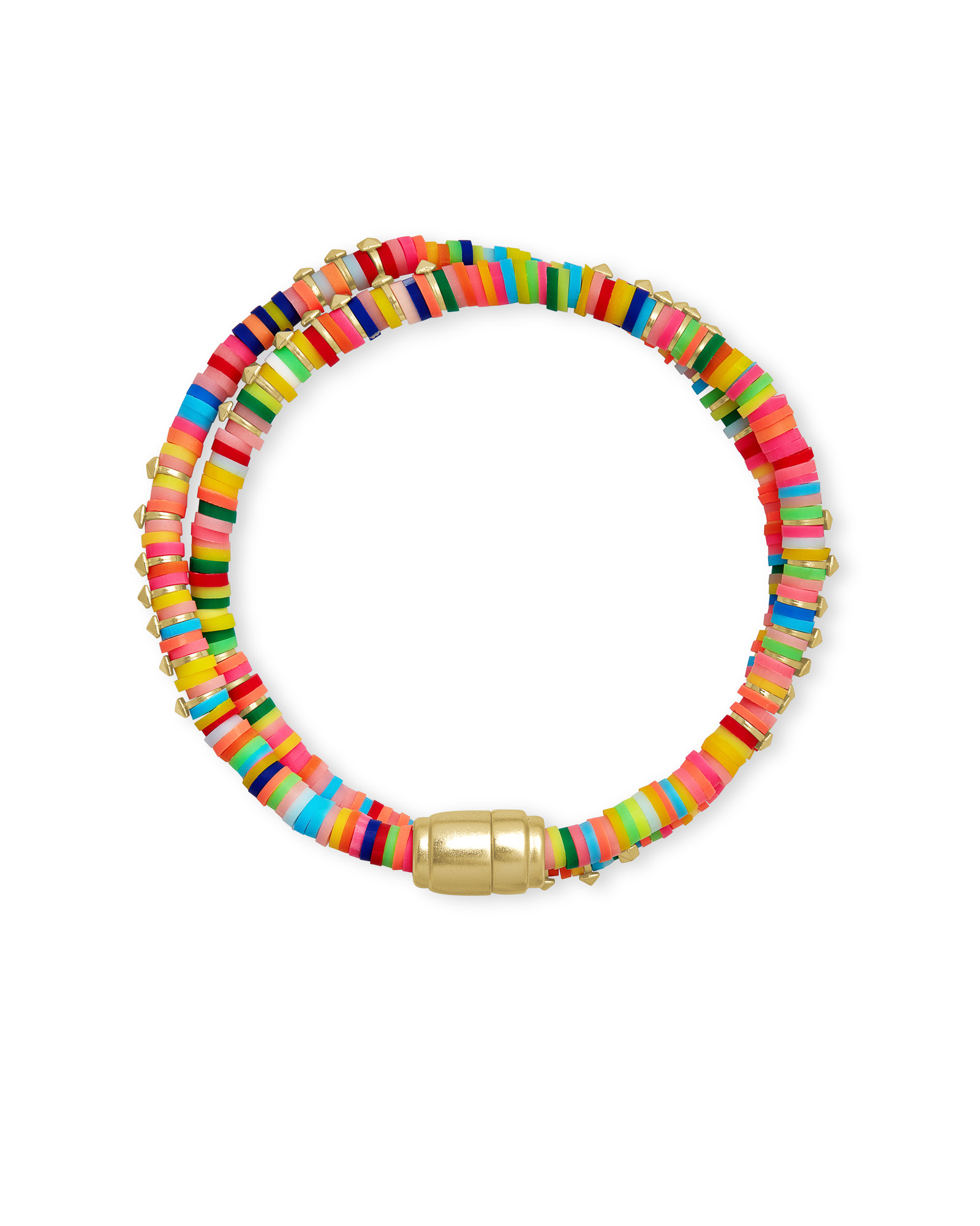 Reece Gold Wrap Bracelet in Neon Mix
