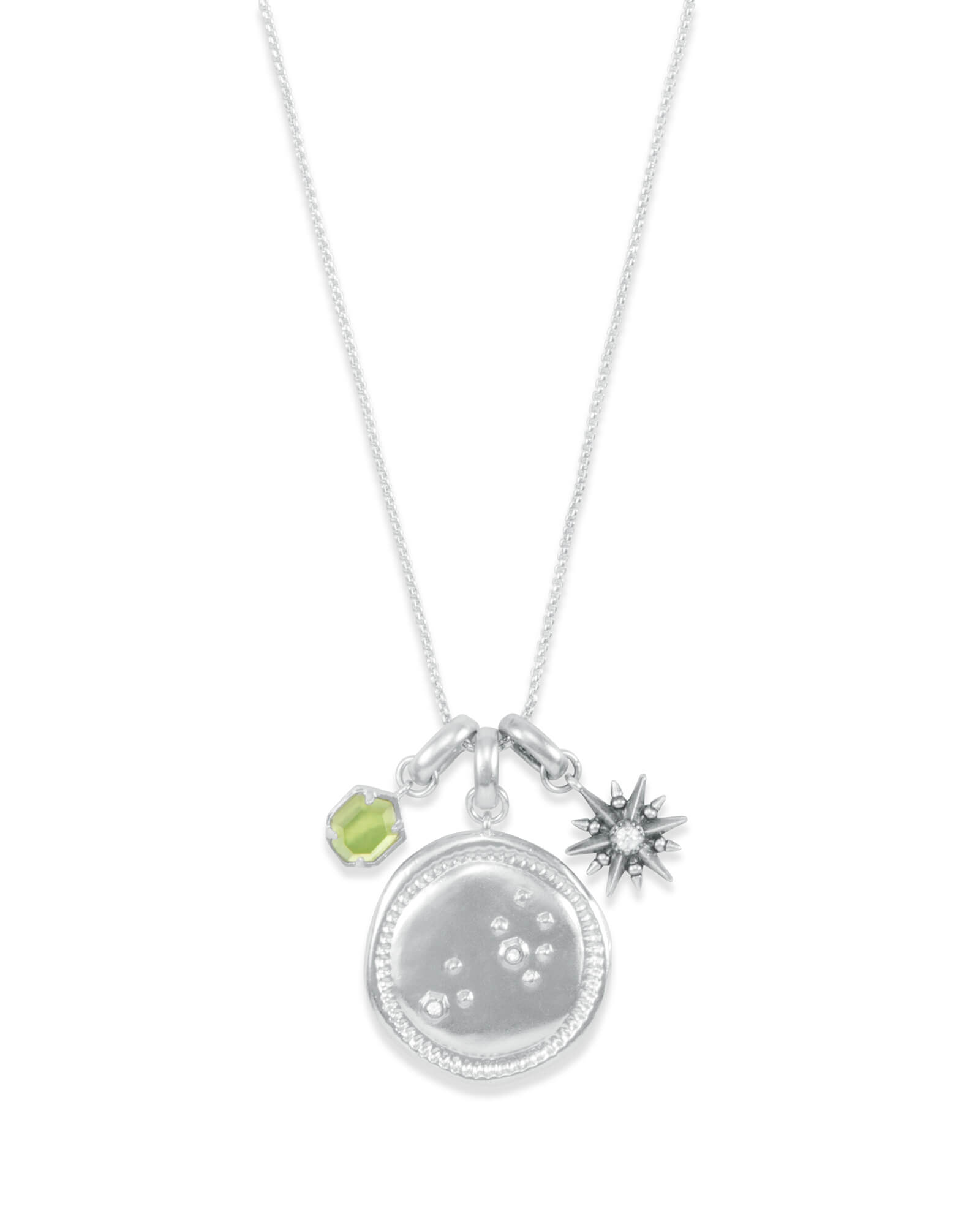 August Leo Charm Necklace Set in Silver