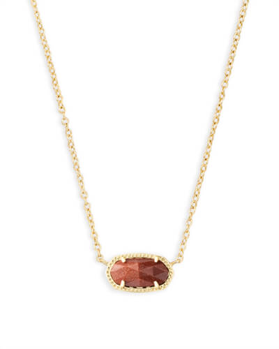 Elisa Pendant Necklace in Goldstone
