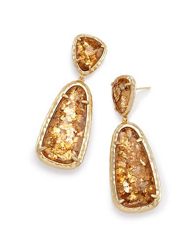 Daria Statement Earrings in Crushed Gold Mica