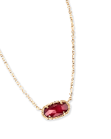 Elisa Pendant Necklace in Burgundy Illusion