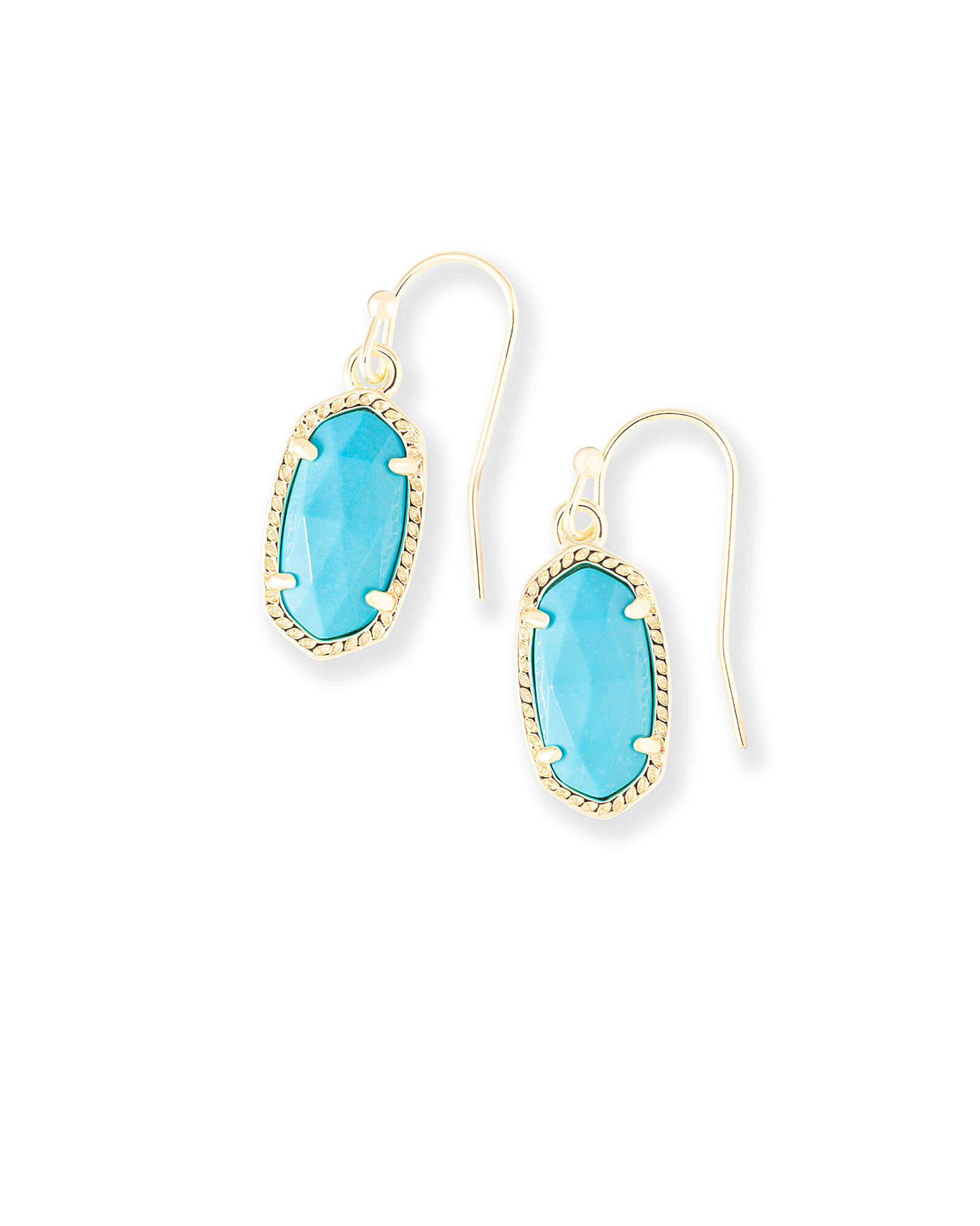Lee Gold Drop Earrings in Turquoise