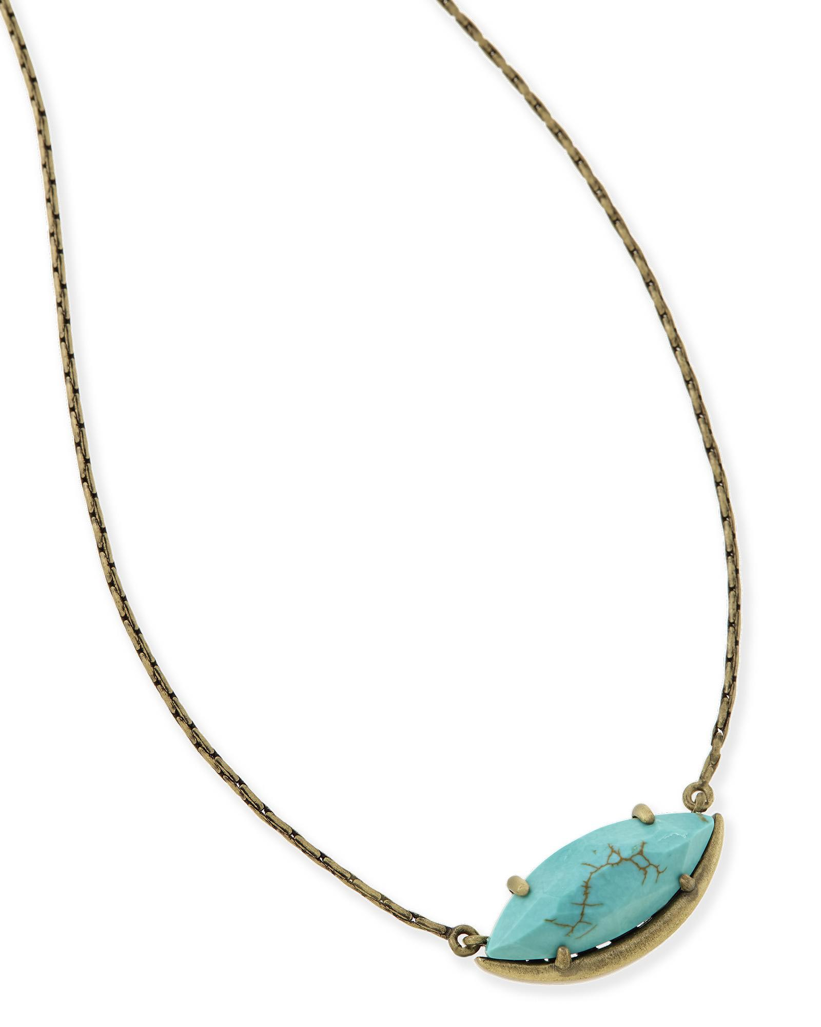 Meghan Pendant Necklace in Variegated Turquoise