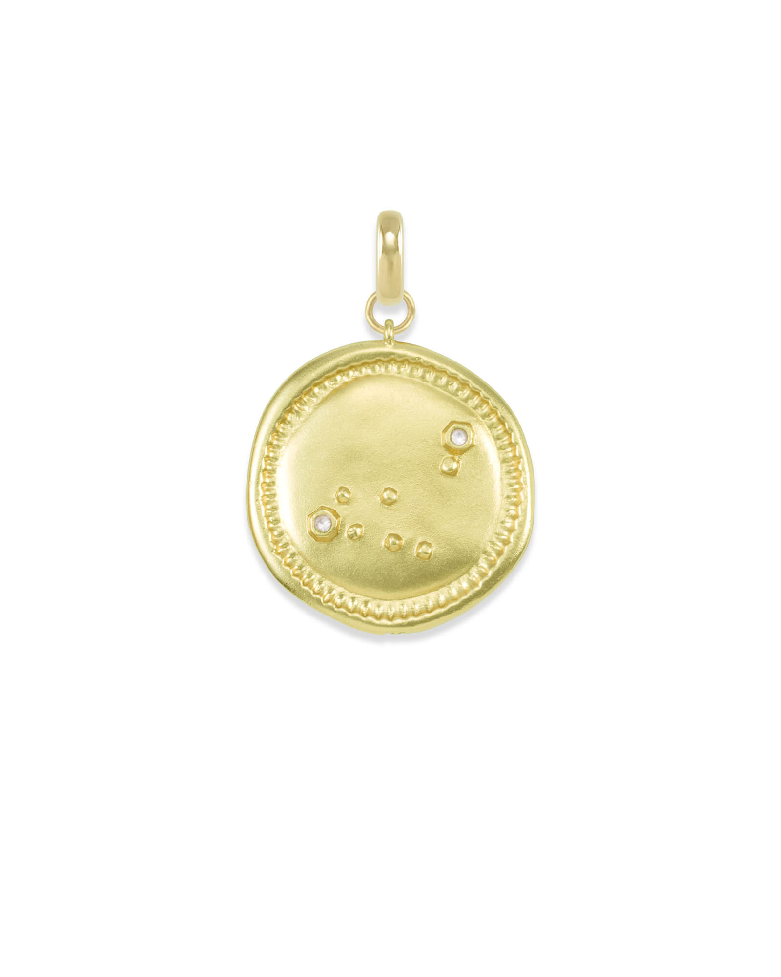 Capricorn Large Coin Charm