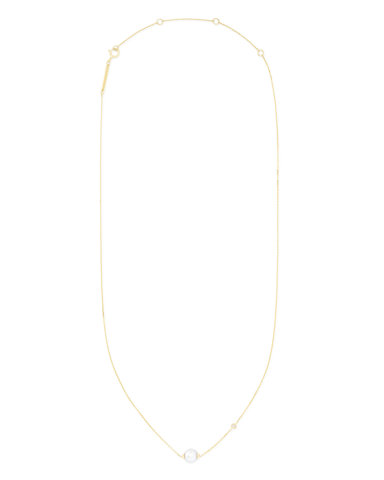 Cathleen 14k Gold Pendant Necklace in Pearl