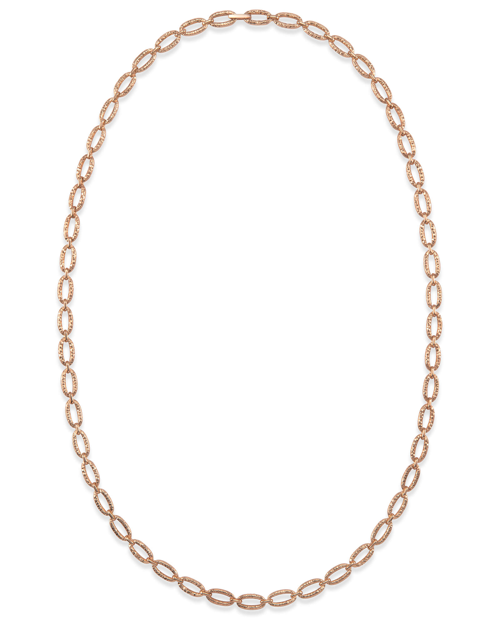 "32"" Chain Link Necklace in Rose Gold"