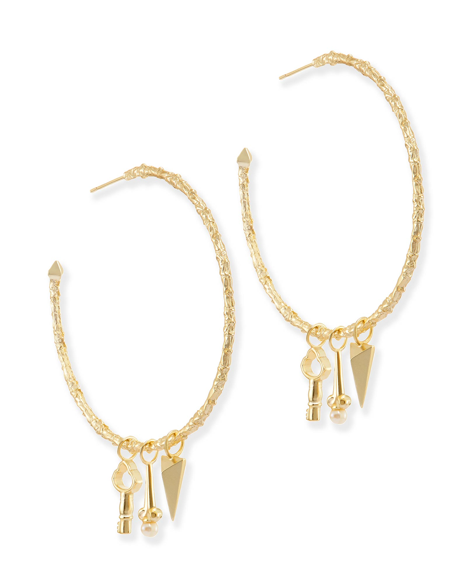 Shiloh Hoop Earrings in Gold