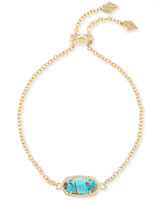 Elaina Adjustable Chain Bracelet in Bronze Veined Turquoise