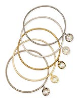 Brianna Bangle Bracelet Set in Mixed Metals