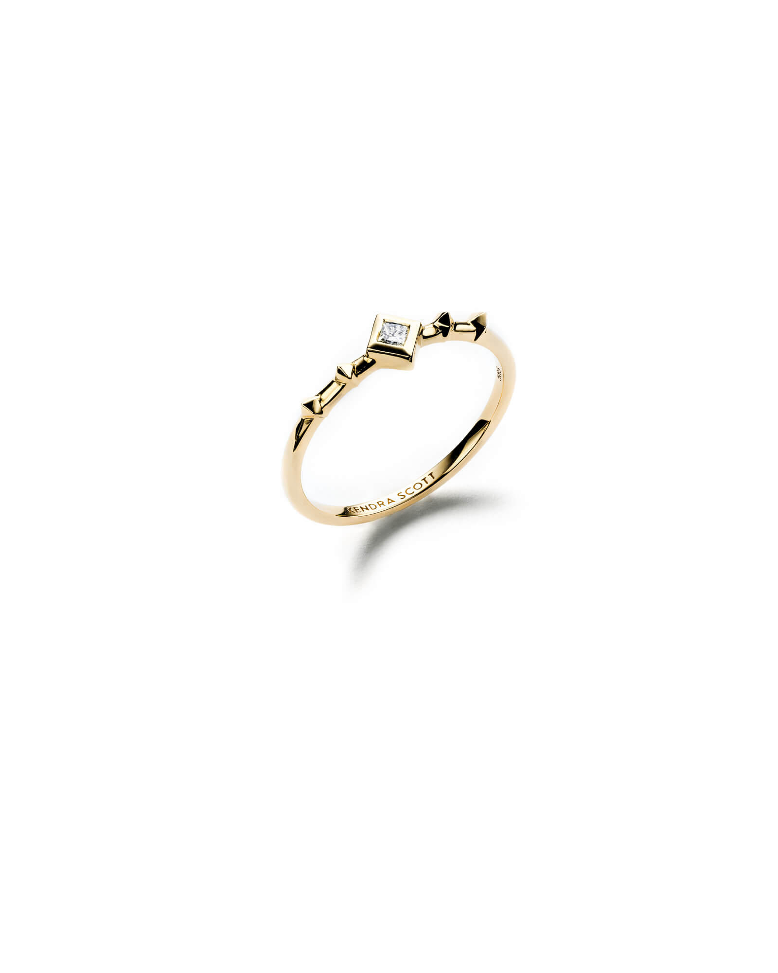 Wave Band Ring in 14k Yellow Gold