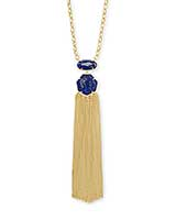 Tae Gold Pendant Necklace in Blue Lapis