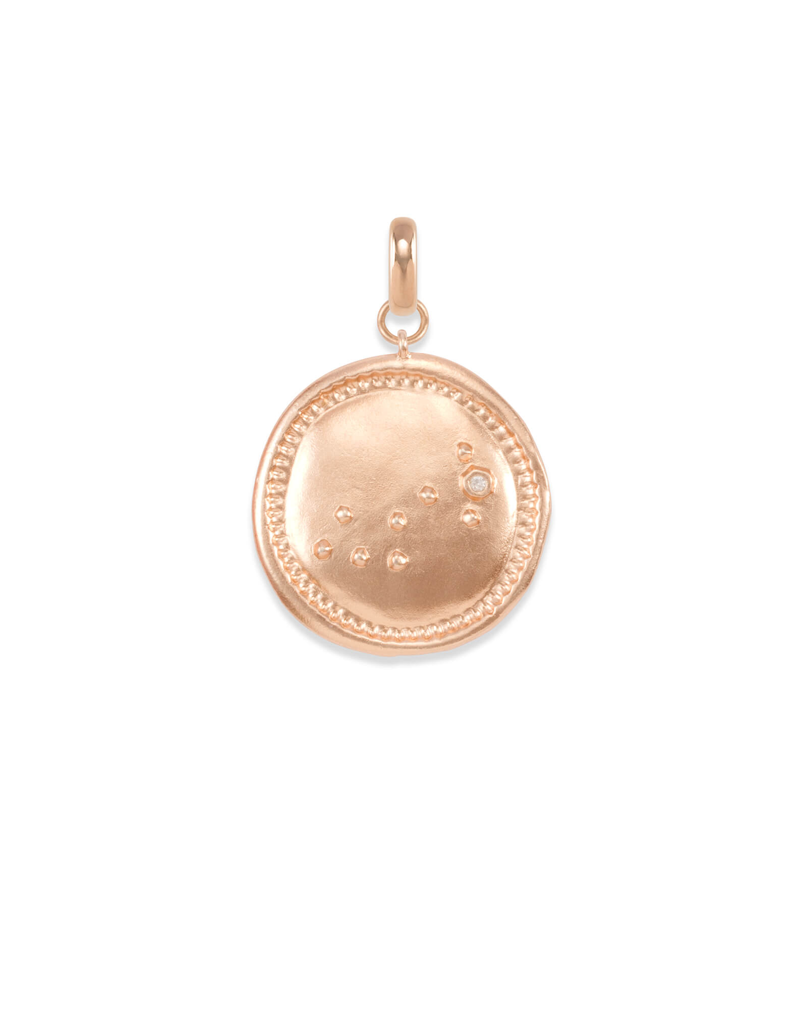 Scorpio Coin Charm in Rose Gold