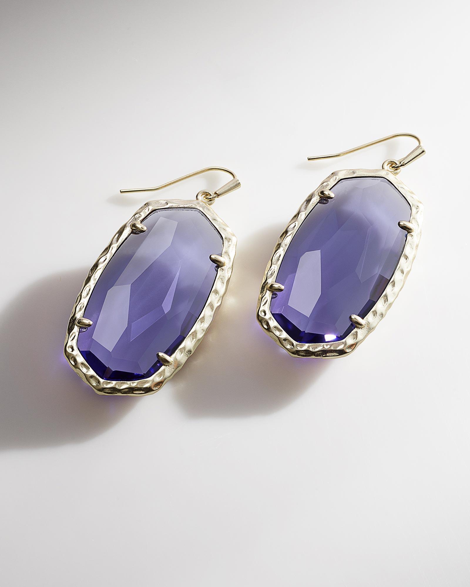 Ella Drop Earrings In Iolite