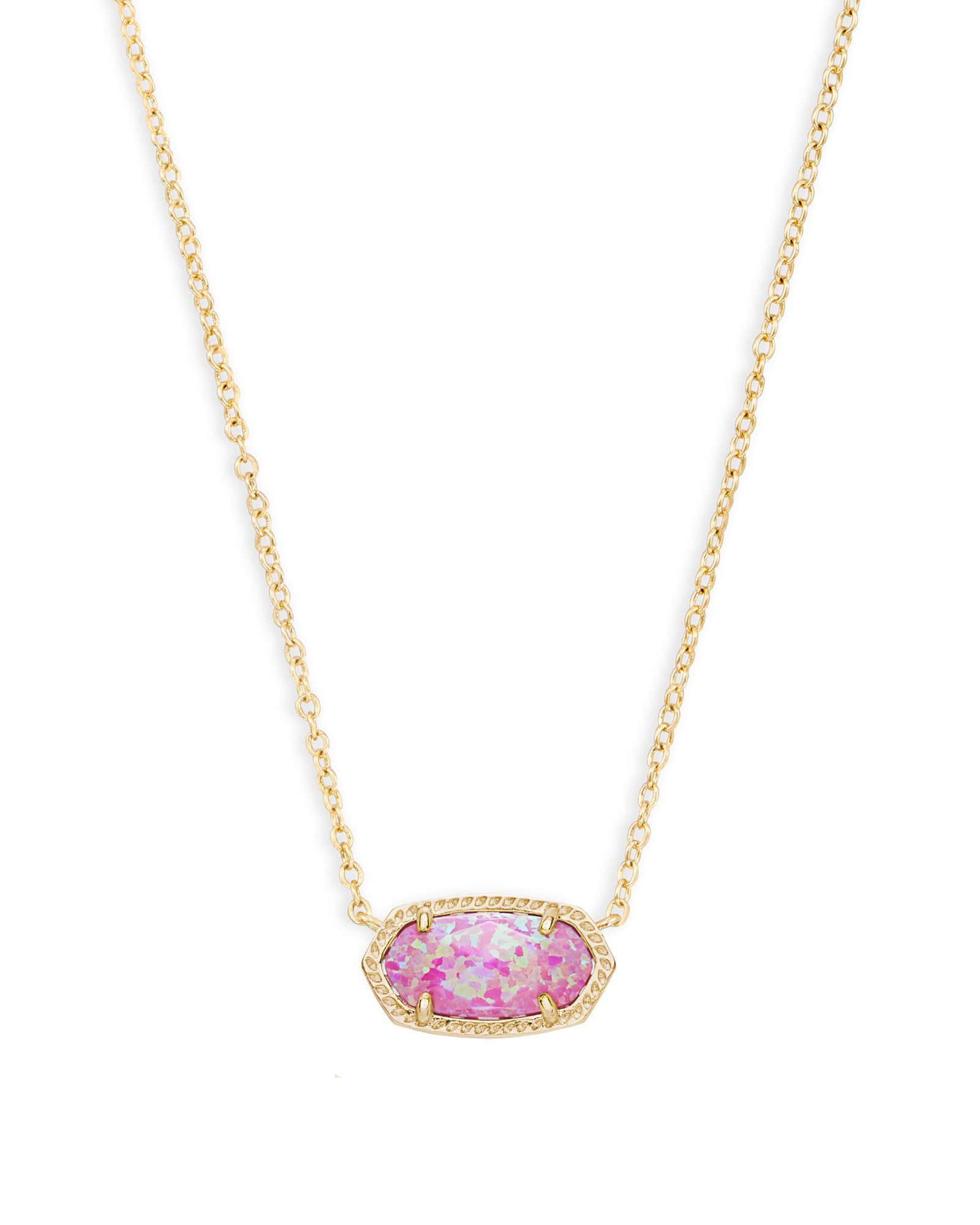 Elisa Pendant Necklace in Fuchsia Kyocera Opal