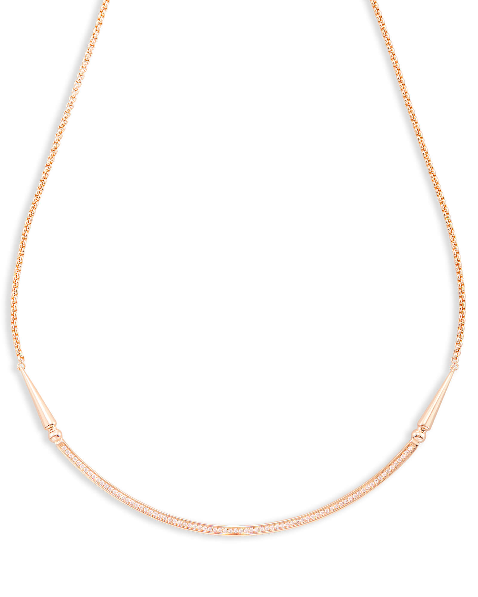 Scottie Choker Necklace in Rose Gold