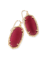 Elle Drop Earrings in Burgundy Illusion