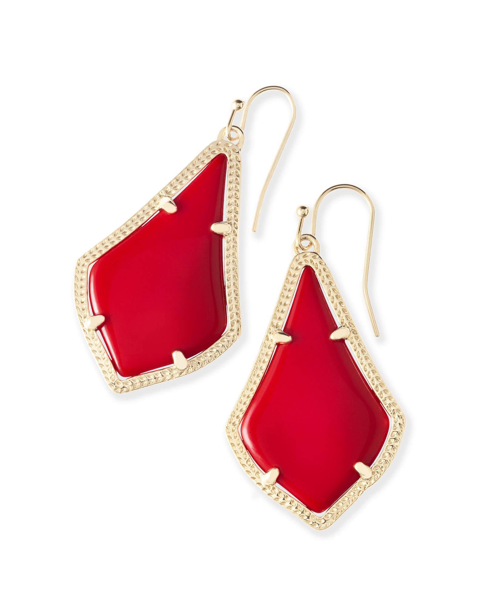 Alex Earrings In Bright Red