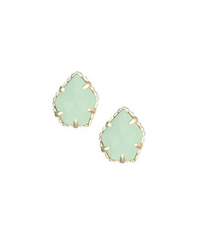 Tessa Stud Earrings in Chalcedony from Kendra Scott Product Image