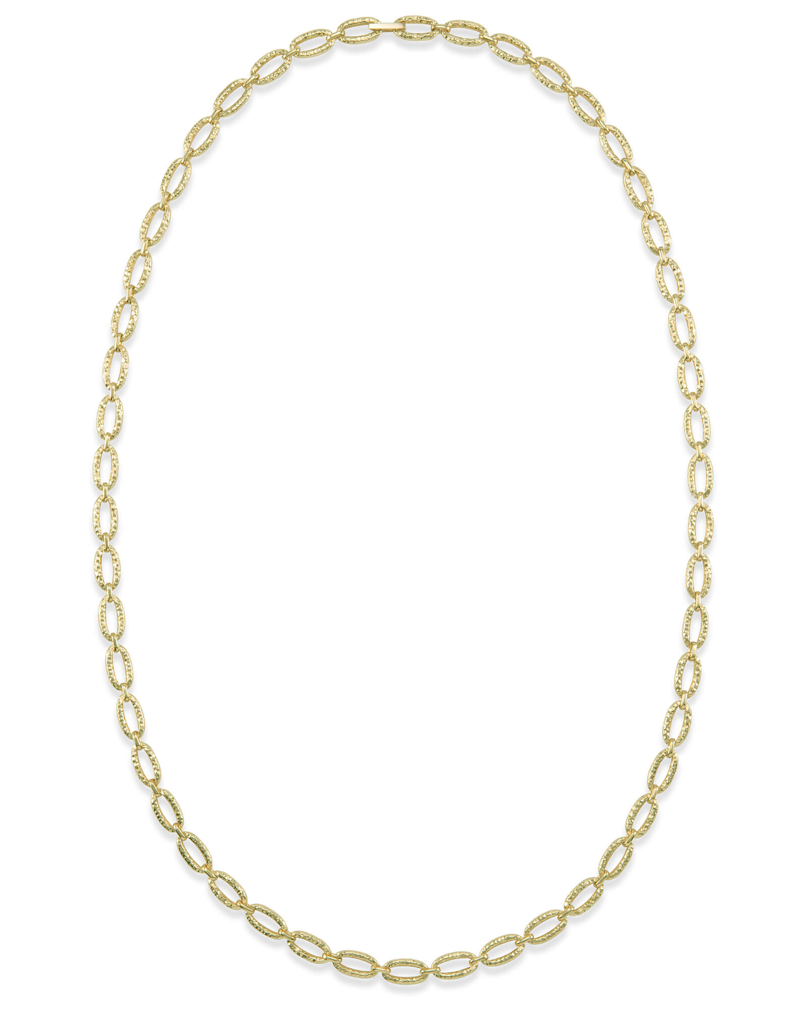 32 Inch Chain Link Necklace in Gold