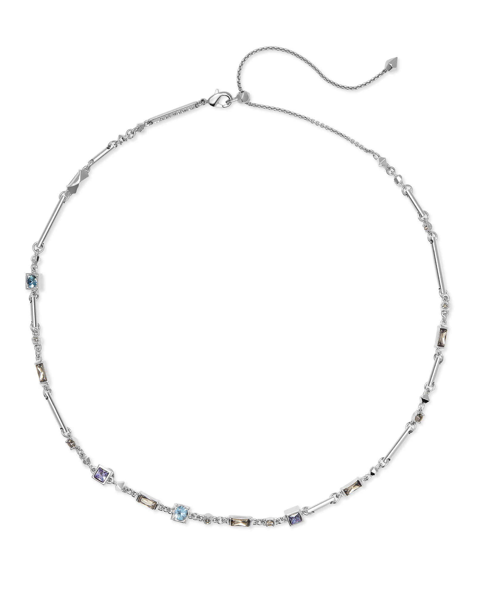 Rhett Silver Necklace in Lilac Mix