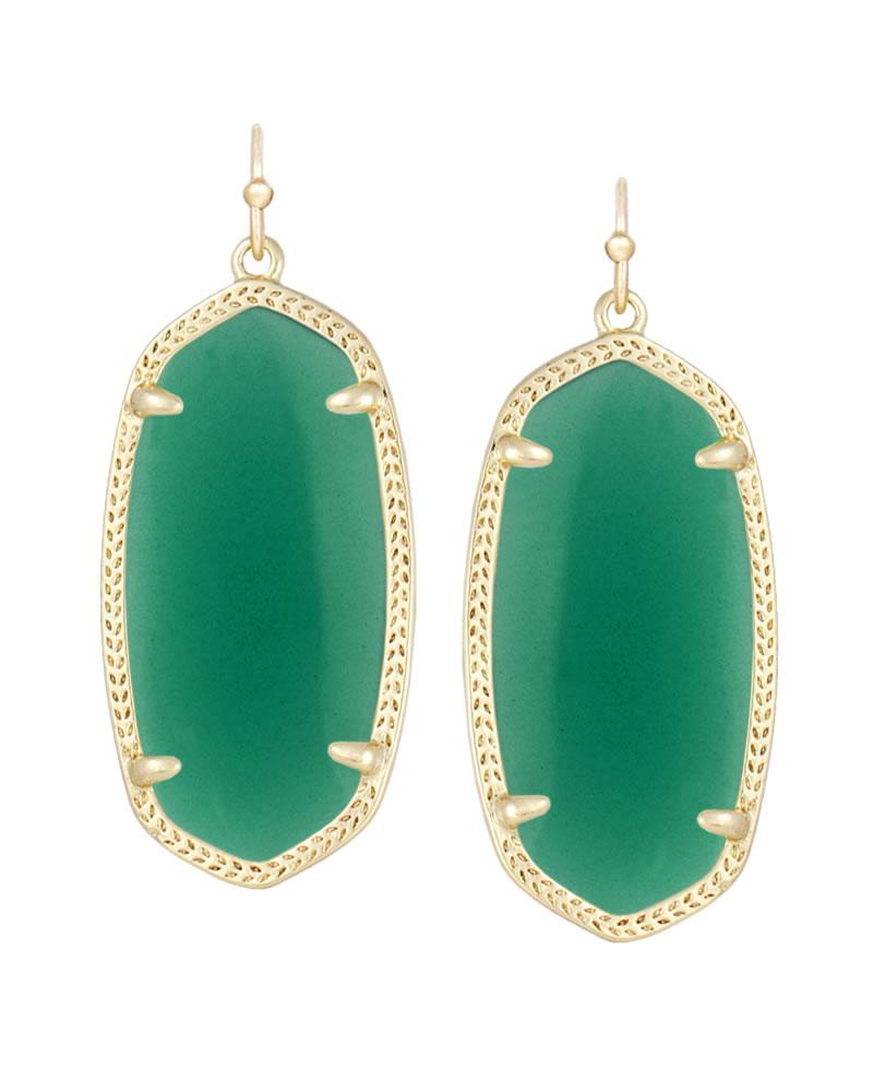Elle Earrings in Green
