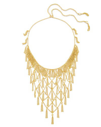 Georgina Statement Necklace in Gold